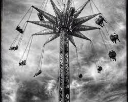 carnival swing ride circus art circus print carnival wall