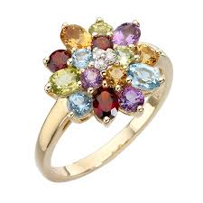 coloured stones rings images 9ct gold diamond and multi coloured stones ring product number jpg