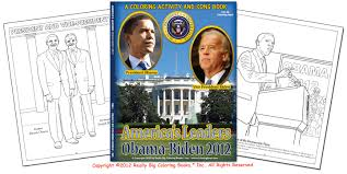 obama biden 2012 presidential coloring activity and song books by