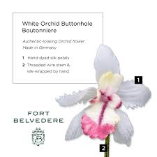 White Orchid Flower White Orchid Boutonniere Buttonhole Flower By Fort Belvedere