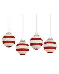 cozy stripes knitted christmas ornaments treetopia