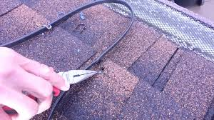 Wrap On Roof And Gutter Cable by Heat Cable Attached With Staples Do Not Do This Youtube
