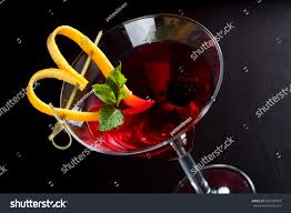 martini cranberry tall chilled fancy martini glass cocktail stock photo 600770903