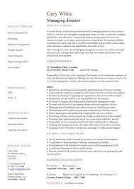 managing director cv sample managerial cvs curriculum vitae