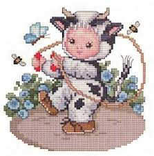 maurer stroh cow baby cross stitch pattern 123stitch