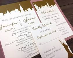 wedding invitations new york nyc invitations etsy