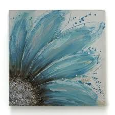 art painting ideas 4 consider sketching a blue sunflower on grey sheet easy canvas