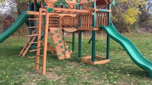 How To Build A Wooden Playset Gorilla Playsets Monkey Bar Add On Review Youtube