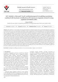Online Spreadsheet Program Afc Modeler A Microsoft Excel Workbook Program For Modelling