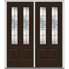 Steel Exterior Doors Home Depot by 72 X 80 Brown Front Doors Exterior Doors The Home Depot