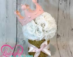 glitter gold u0026 pink centerpiece pink silk rose