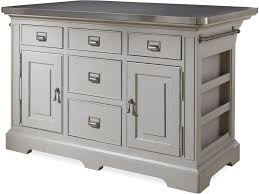 kitchen island stainless top paula deen the kitchen island with stainless wrapped metal