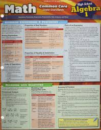 Common Core Math Worksheets Math Common Core Algebra 1 9th Grade Inc Barcharts