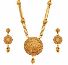 long gold necklace sets images Buy jfl jewellery for less traditional ethnic one gram gold jpg