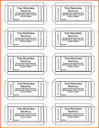 template raffle ticket template