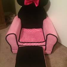 Minnie Mouse Armchair Find More Minnie Mouse Chair With Foot Stool Euc Beside Two Very