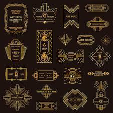 Art Deco Design Elements Art Deco Style Clip Art Vector Images U0026 Illustrations Istock