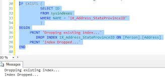 T Sql Drop Table If Exists Check If An Index Exists Devon Dba