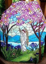 hand painting flowers u0026 fairies on garden rocks iris angel and rock