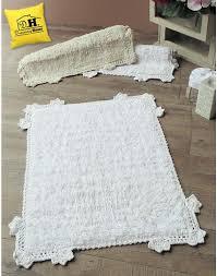 tappeto blanc mariclo tappeto bagno rettangolare shabby chic crochet blanc mariclo