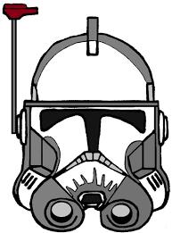 clone commander bacara u0027s helmet clone wars tv show helmets