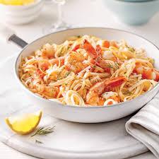 cuisine et vin de recette linguines aux crevettes sauce beurre à l ail et vin blanc