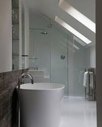 how to design around your sloped ceiling bathroom storage