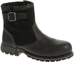 womens steel toe boots nz jace steel toe work boot black cat footwear