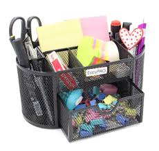 Office Desk Organizers Accessories by Amazon Com Easypag Office Mesh Desk Organizer 9 Components