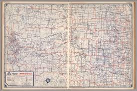 south dakota road map road map of south dakota david rumsey historical map collection