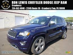 light brown jeep 2015 jeep grand cherokee overland 4x4 in true blue pearl 107671