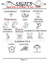 glyph tattoo meaning my opalraines production compiled 91 sigils aplhabetically for