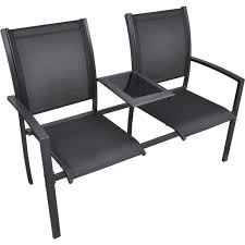 jack u0026 jill outdoor chair w steel frame in black buy jack