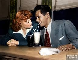 Desi Arnaz And Lucille Ball Colorization Of Lucille Ball And Desi Arnaz Sometime Before They