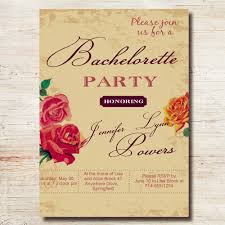 Custom Invitation Country Rustic Floral Custom Invites For Bachelorette Party