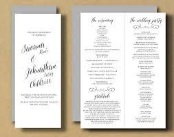 wedding program booklet printable wedding program booklet diy ceremony program
