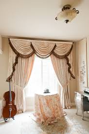 peony pavillion swags and tails valance curtain drapes