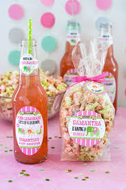 popcorn favors circus baby shower candy popcorn favors gift favor ideas