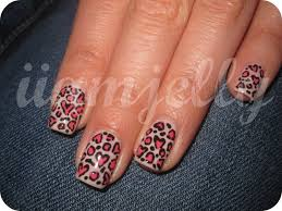 heart leopard print nail tutorial youtube