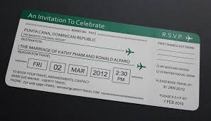 Boarding Pass Wedding Invitations Wedding Invitations Wedding Tips From The Best Vendors In The