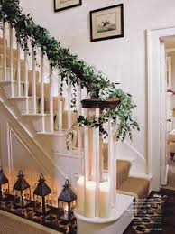 Stairs Decorations by Beautiful Christmas Stair Decorations
