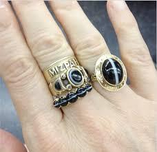 custom cluster v shaped ring bario neal gem gossip jewelry