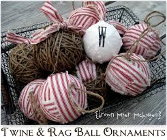twine fabric rag ornaments featuring kierste from brown