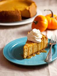 salt caramel pumpkin cheese cake best easy healthy thanksgiving