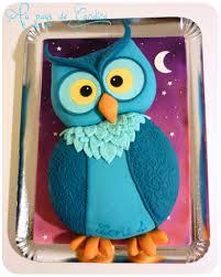 gateau anniversaire animaux gâteau hibou au pays de candice