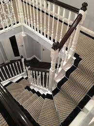 Sisal Stair Runner by Striped Stair Runner Stairs Stylish Staircases Painted Steps