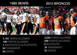 broncos d not even close the comparison can stop now chibears