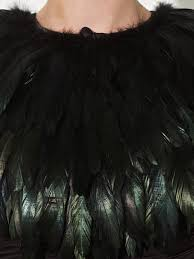 john lewis feather cape in black lyst
