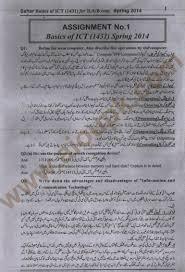 basics of ict code 1431 for urdu medium students u2013 spring 2014