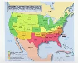 Civil War States Map This Is A Map Of The United States Before And During The Civil War
